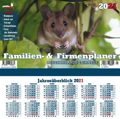 2021 Familien- & Terminplaner »Deutschlands Tierwelt «