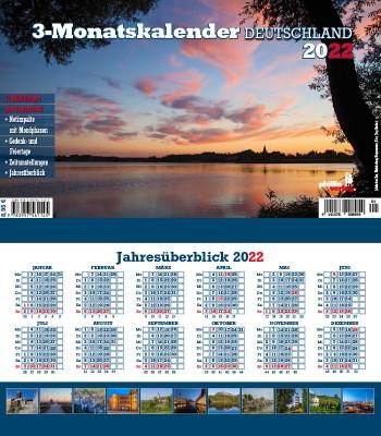 2022 3-MONATSPLANER »Deutschland«