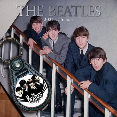 Bundle: The Beatles, Schlüsselanhänger + Kalender 2021 + gratis Familienplaner 2021