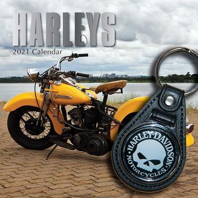 Bundle: Schlüsselanhänger Harley Davidson + Kalender HARLEYS 2021 + gratis Familienplaner 2021