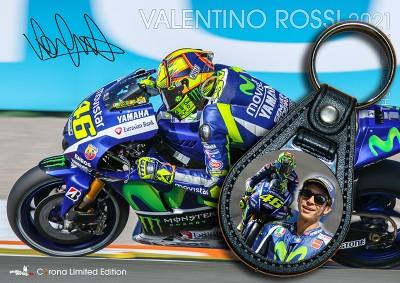 Bundle: Schlüsselanhänger Valentino Rossi + Kalender V. Rossi 2021 + gratis Familienplaner 2021