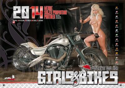 2014 Kalender »Girls & Bikes« GRATISVERSAND!