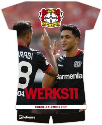 2021 Kalender »Bayer 04 Leverkusen Trikotkalender «