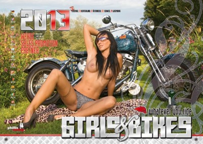2013 Kalender »Girls & Bikes« GRATISVERSAND!