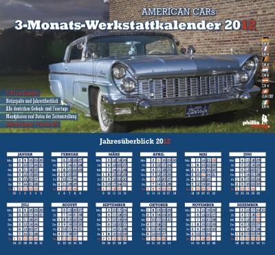 2012 3-MONATS-WERKSTATTKALENDER »American Cars«