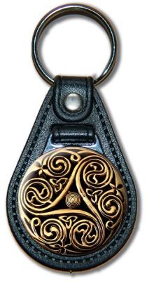 Schlüsselanhänger Triskele_02_gold