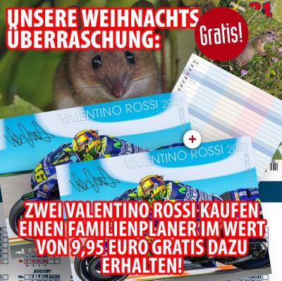 Bundle: Zwei Valentino Rossi 2021 + gratis Familienplaner 2021