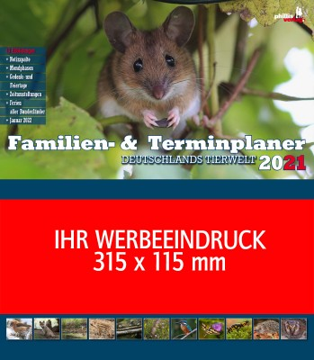 2021 »Familien- & Firmenplaner« Deutschlands Tierwelt
