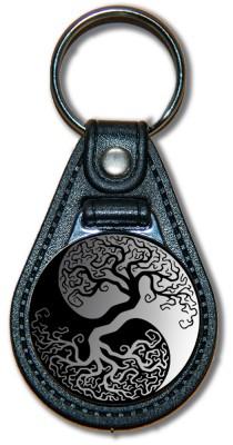 Schlüsselanhänger YinYang_03_schwarz