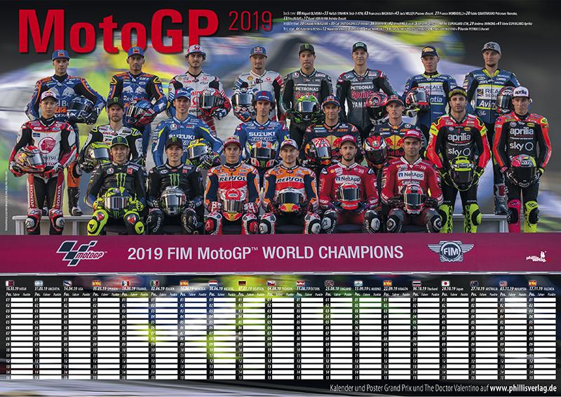 MotoGP 2019 Plakat - Brandneu und aktuell!!
