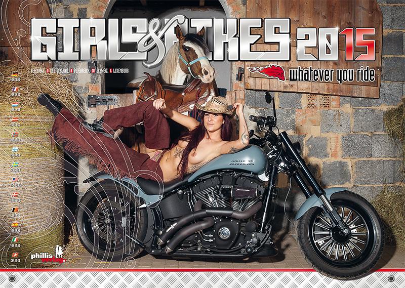 2015 Kalender »Girls & Bikes« GRATISVERSAND!