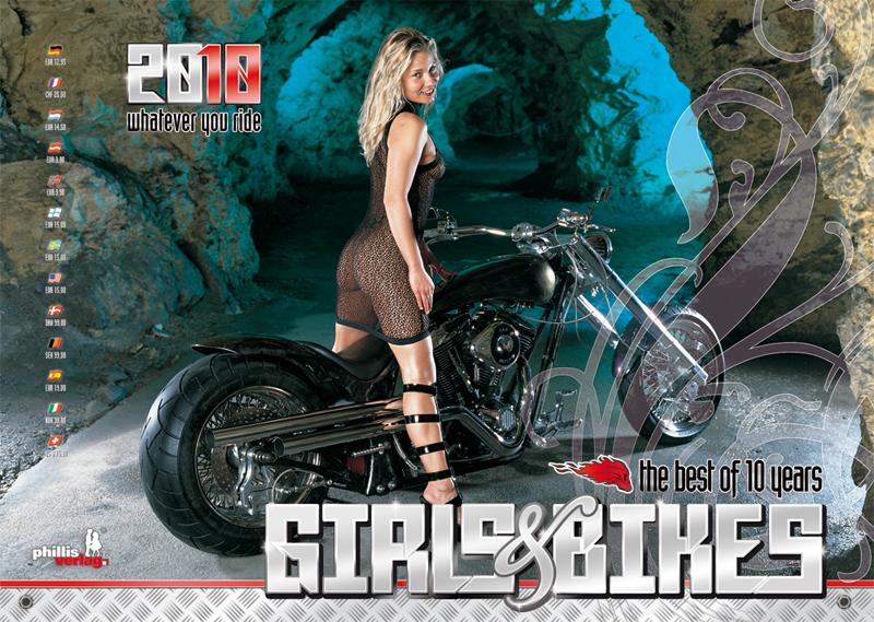 2010 Kalender »Girls & Bikes« GRATISVERSAND!