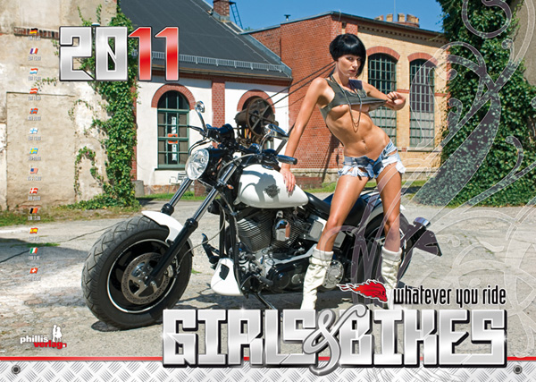 2011 Kalender »Girls & Bikes« GRATISVERSAND!