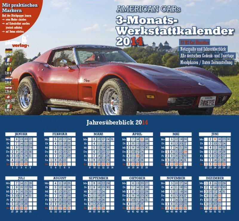 2014 3-MONATSPLANER »American Cars«