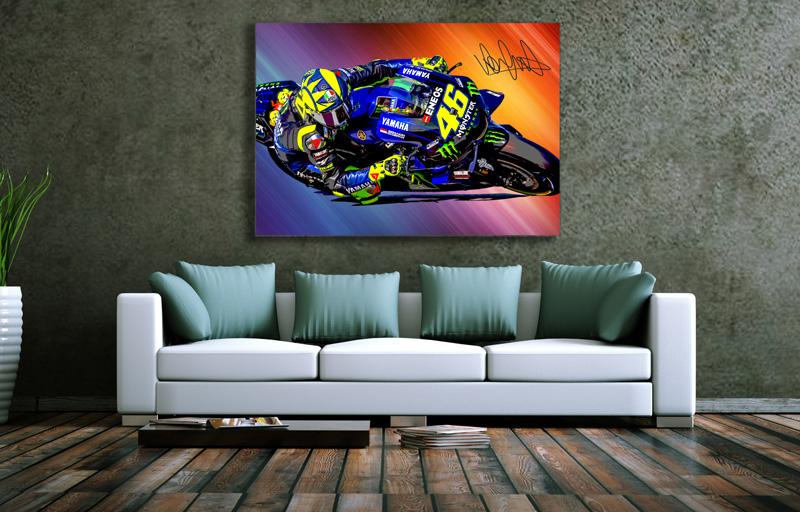 Wandbild Valentino Rossi, Leinwand, 1000 x 700 mm