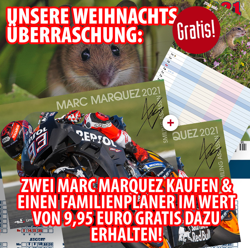 Bundle: Zwei Marc Marquez 2021 + gratis Familienplaner 2021