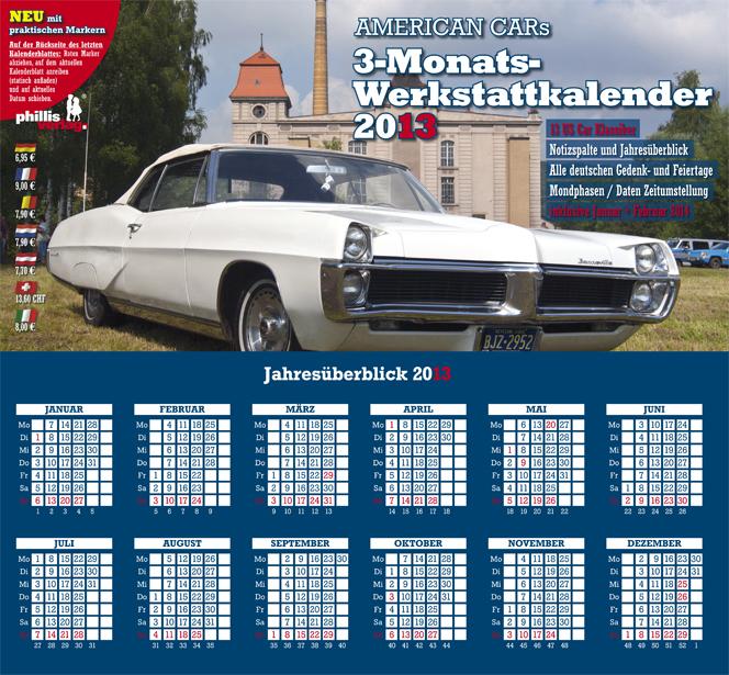 2013 3-MONATSPLANER »American Cars«