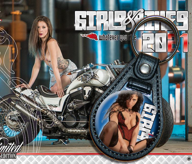 Bundle: Schlüsselanhänger Girl 01 + Kalender Girls & Bikes + gratis Familienplaner 2021