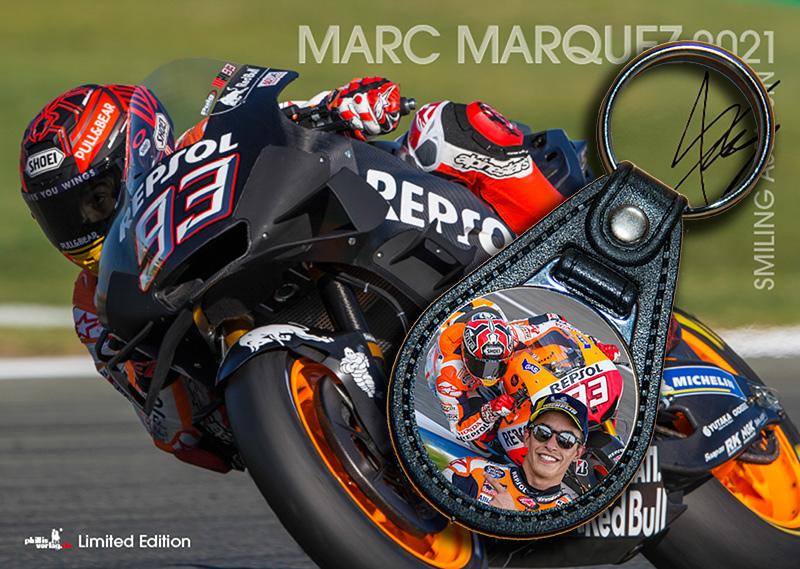 Bundle: Schlüsselanhänger Marc Marquez + Kalender Marquez 2021 + gratis Familienplaner 2021