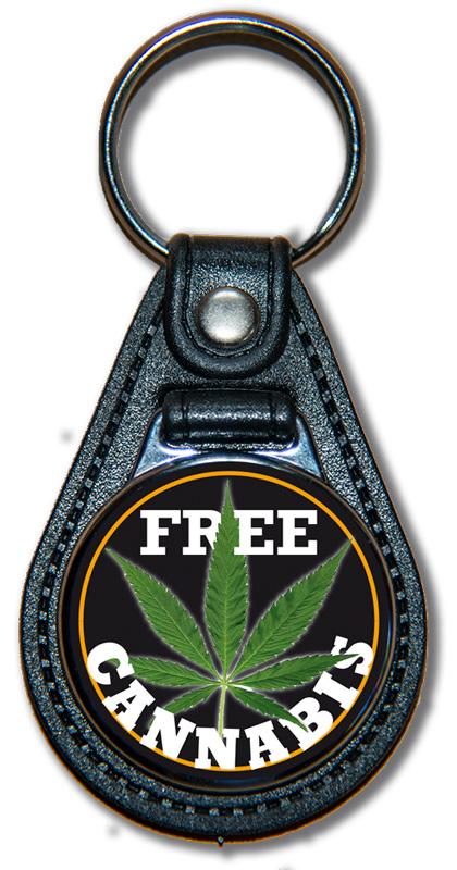 Schlüsselanhänger Free Cannabis