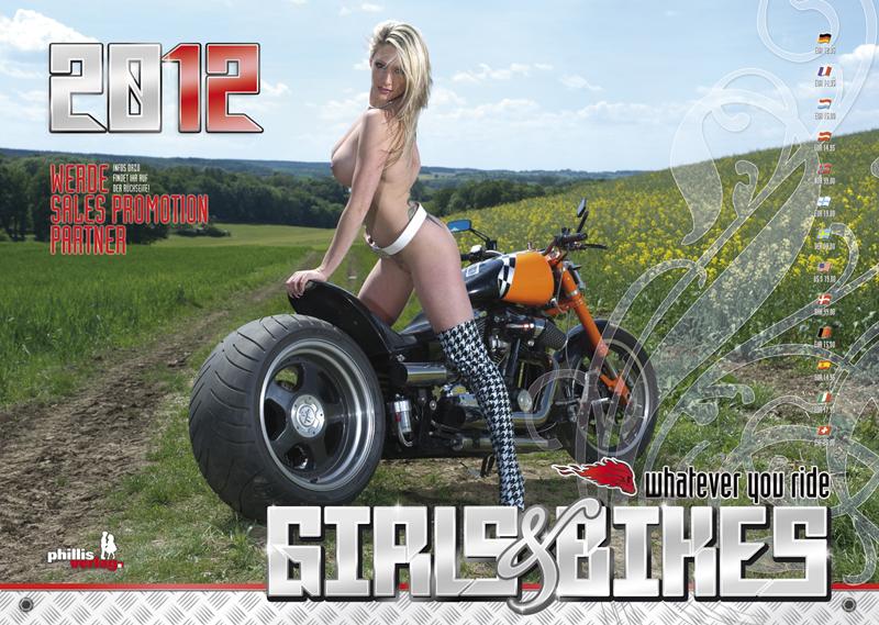 2012 Kalender »Girls & Bikes« GRATISVERSAND!